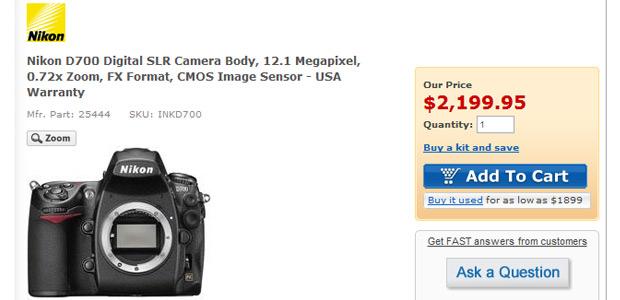 Adorama Nikon D700