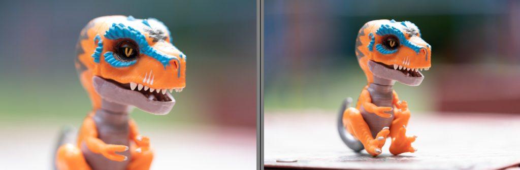 Bokeh test @ min AF distance - left: 135mm, right: 70-200mm